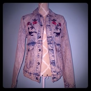 Urban Outfitters floral denim jacket
